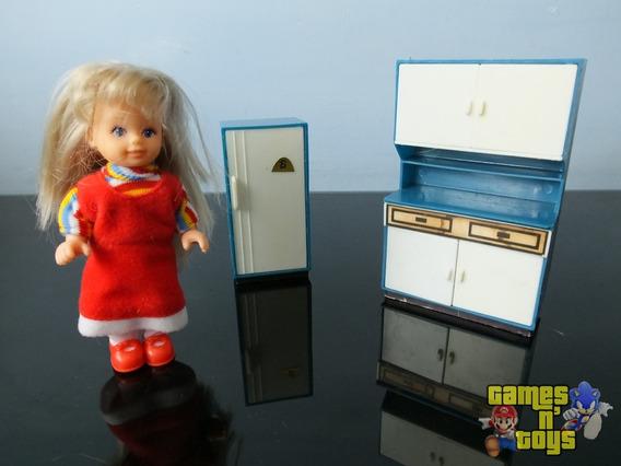 Boneca Evi Love Com Cozinha Móveis Casa Tipo Barbie Mattel