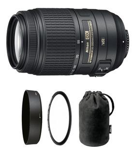 Lente Nikon Objetivo Nikkor Af-s 55-300mm F/4-5.6g 12 Cuotas