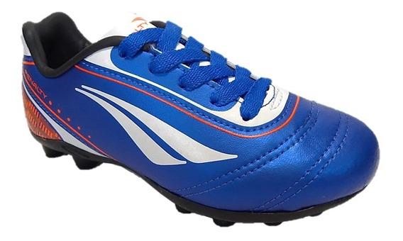 Chuteira Campo Penalty Soccer Azul Frete Grátis 004386
