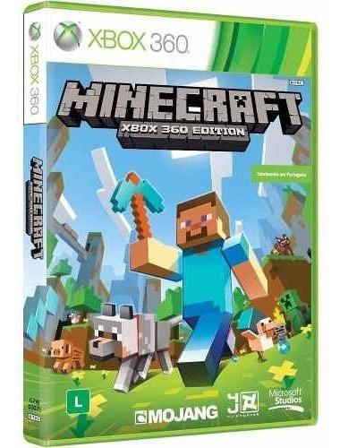 Minecraft Xbox360 Mídia Física Original Lacrado