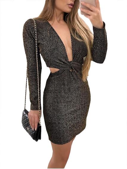 Vestido Feminino De Festa Curto Bojo Decote Blogueira #t24