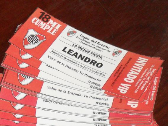 River Plate Tarjetas De Invitacion Paquete Souvenirs