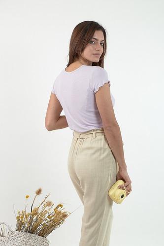 Pantalon De Lino Mujer Verano 2021 Ultimo En Talle 36 Mercado Libre