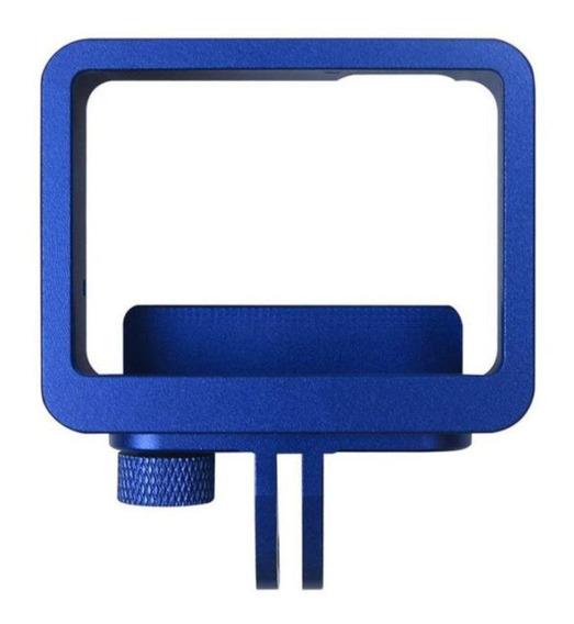 Frame Moldura Em Alumínio Azul Para Gopro 5/6/7 Black