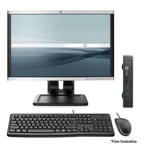 Imagem 1 de 11 de Computador Hp Mini 600 Core I5 4gb Ssd 240gb Wifi Monitor 22