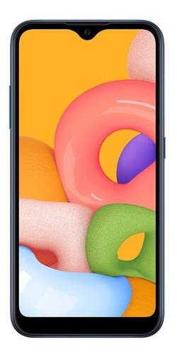 Celular Smartphone Samsung Galaxy A01 A015m 32gb Azul - Dual Chip