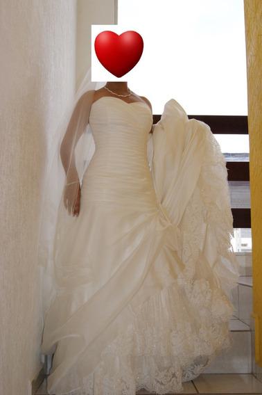 Vestido De Novia Color Ivory Hermosisimo!! Impecable!!