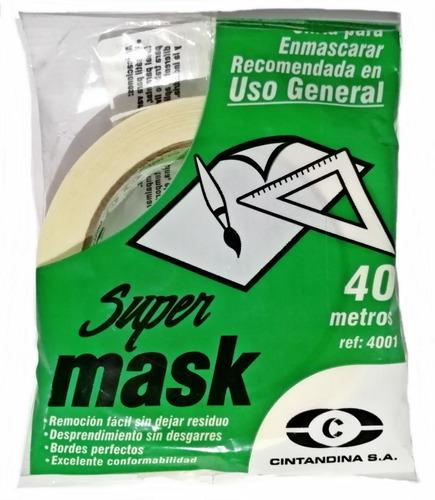 Cinta Enmascarar Supermask-4001 12mm X 40mts Cintandina