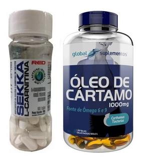 Combo Óleo De Cartamo 60 Cáps + Sekka L Carnitina 60 Tabs