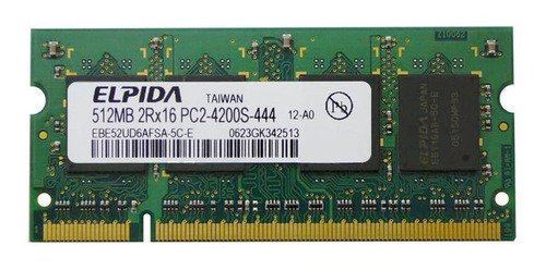 Memoria Notebook 512mb 2rx16 Pc2-4200s-444