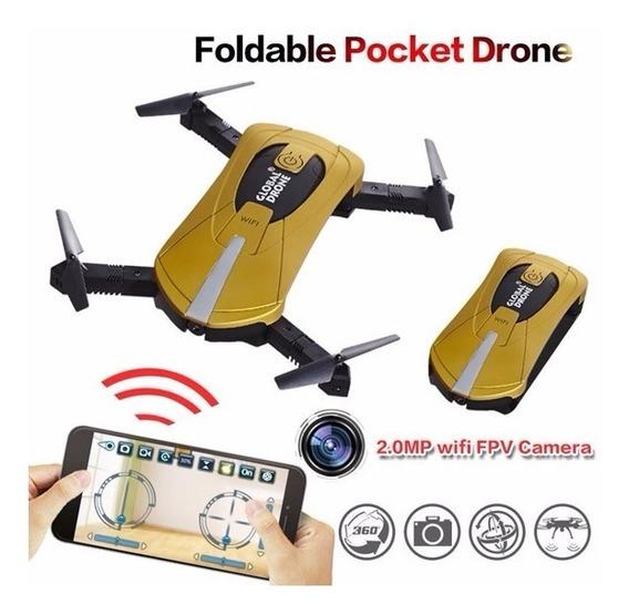 Drone De Bolso Gw018 Câmera Hd, Wifi, 360 Graus, 2 Baterias