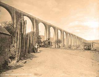 Lienzo Tela Fotografía Acueducto Querétaro 1897 50 X 64 Cm