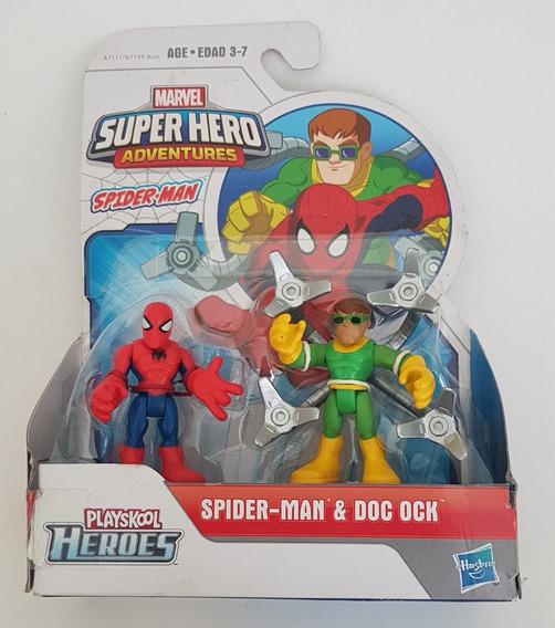 Homem Aranha & Dr Octopus Marvel Super Hero Playskool Hasbro