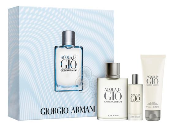 Conjunto Acqua Di Giò Homme Trio Giorgio Armani (3 Produtos)