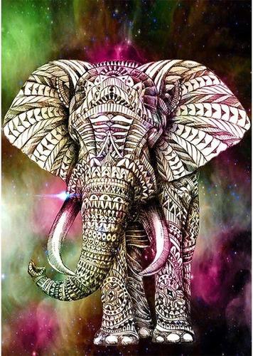 Diy 5d Diamante Pintura Por Numero Kit Elefante Niños Adulto