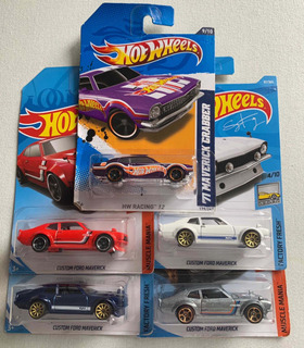 5 Hotwheels Miniaturas Ford Maverick Hot Wheels