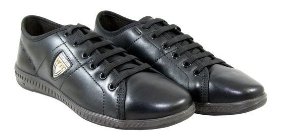 Zapatillas Hombre West Coast Urbanas Cuero Triple Black