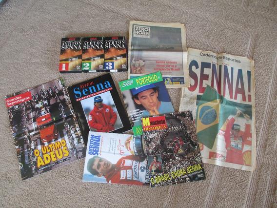 Lote Com Publicações Sobre Ayrton Senna