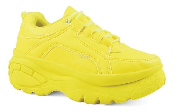 Tênis Sneaker Bf Feminino Linc Plataforma 6cm Altura