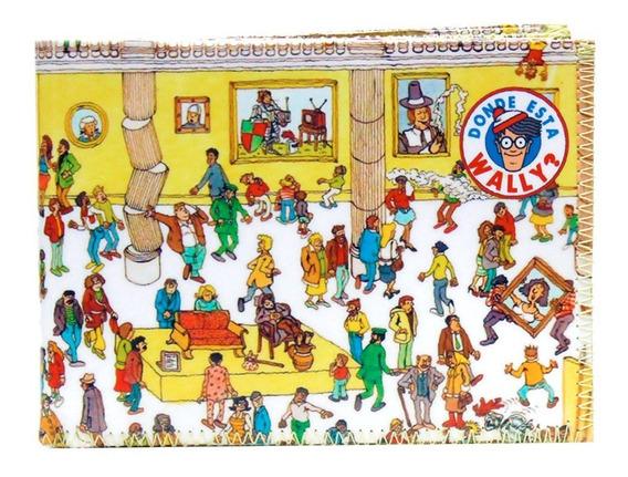 Billetera Tarjetero Diseño Donde Esta Wally 100% Original