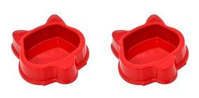 Kit 2 Potes Ração Água - Comida 160 Ml Plastico Carry On Pet