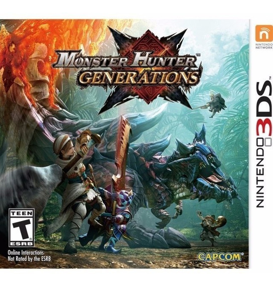 Jogo Mídia Física Monster Hunter Generations Nintendo 3ds