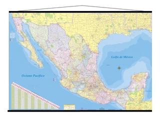 Mapa Mexico Mural Republica Mexicana 180cm X 125 Cm Gigante