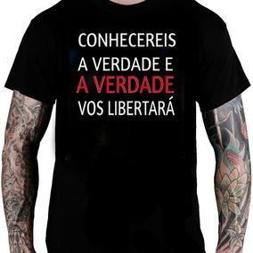 Camiseta Camisa Masculina Frases Salmos
