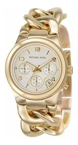 Relógio Michael Kors Mk3131 Runway Dourado Bracelet Original