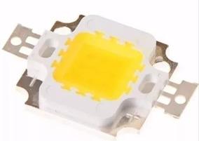 Kit 10 Mega Led Chip 10w 12v 1000 Lm Branco Frio 6.000k