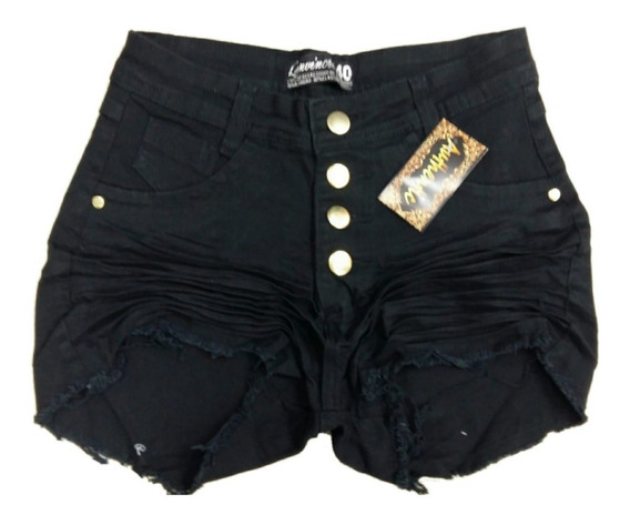 Roupas Femininas Shorts Jeans Plus Size Com Lycra 34 / 52
