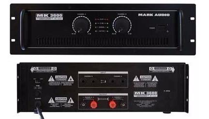 Amplificador Potência Mark Audio Mk3600 600w