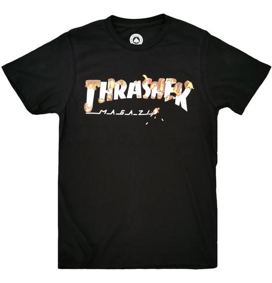 Playera Trasher Flames Negro