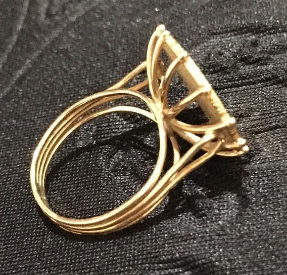 Anel Aguia Ouro 18k Antigo 1,7cm Diam