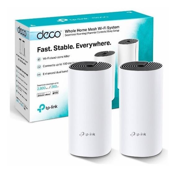 Deco M4 Pack De 2 Mesh Tp Link Ac1200 Giga Wifi System