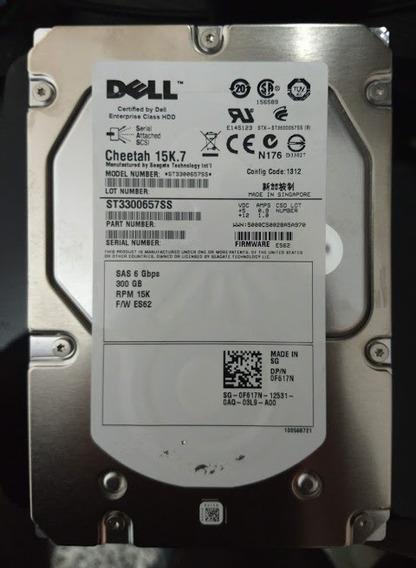 Hd Dell Sas 300gb 3.5 15k.7 Pn F617n St3300657ss