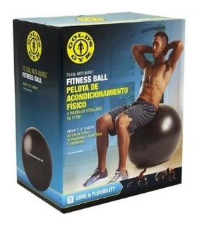 Pelota Balon 75 Cms De Entrenamiento Golds Gym Con Inflador
