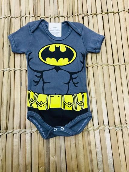 Body Infantil Bori Menino Personagens Roupas Crianças Batman
