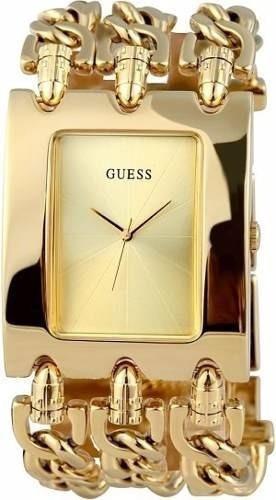 Relogio Feminino Guess Dourado 3 Correntes Bracelet W1274l2