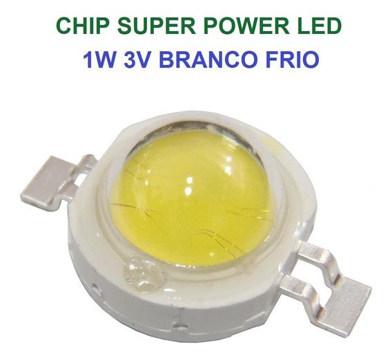 12 Chip Super Power Led 1w 3v Branco Frio Original