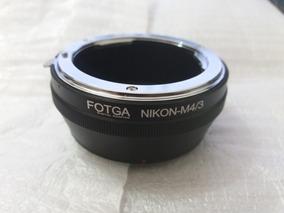 Anel Adaptador De Lentes Nikon Para M43 Panasonic Olympus