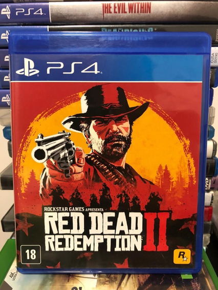 Jogo Ps4 Red Dead Redemption Ii Mídia Física Completo Veja!