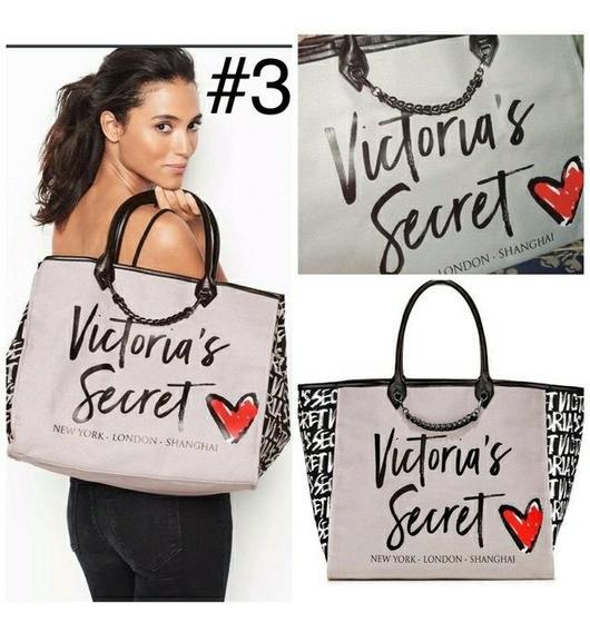 Bolso Cartera Victoria`s Secret Tela Shopping Bag