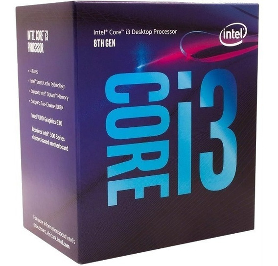 Kit Gamer 8º Geração Intel Core I3 8100 + H310m + 8gb Ddr4