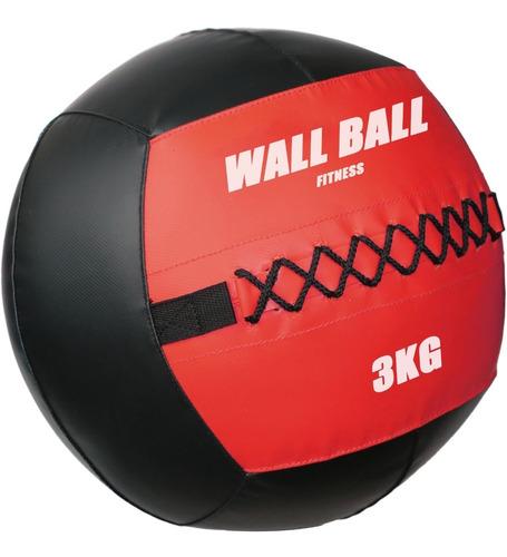 Imagen 1 de 5 de Wall Ball 3kg Pelota Medicinal Crossfit Diámetro 35cms