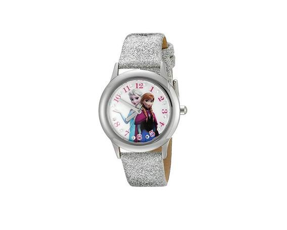 Reloj Para Niños Anna Y Elsa Color Plateado