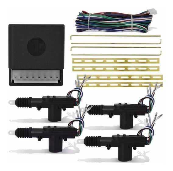 Kit Travas Eletrica Universal 4 Porta C/ Chicote Espaguetado