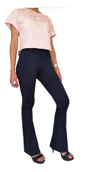 Calza Mujer Oxford Lycra 100% Negro Azul Talles 1 Al 7