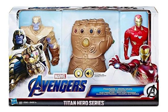 Set Avengers Endgame Figuras Thanos, Guantelete Y Iron Man