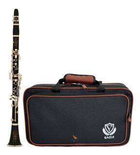 Clarinete Profissional Eagle Cl04n Sib 17 Chaves Case Bag